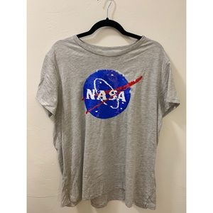 H&M NASA Sequin Top